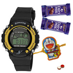 Sporty Sonata Watch for Smart Kids with Free 1 Kids Rakhi with Chocolates and Roli Tilak Chawal to Bangalore