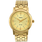 Sophisticated Gents Watch with Golden Body and Straps from the House of Timex to Amalsad