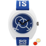 Spectacular Kids Watch from Titan Fastrack in White and Blue Colour with free Roli Tilak and Chawal to Baroda