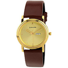 Marvelous Golden Dialed Analog Gents Watch from Sonata to Gurgaon