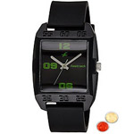 Attractive Black Dial Fastrack Gents Watch with free Roli Tilak and Chawal to Anand