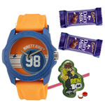 Appealing Fastrack Tees Gents Watch with Free 1 Ben 10 Rakhi with Chocolates and Roli Tilak Chawal to Cochin