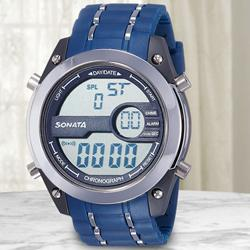 Marvelous Sonata Superfibre Digital Mens Watch to Akola
