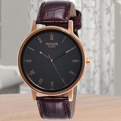 Remarkable Sonata Sleek Analog Mens Watch to Abohar