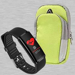 Marvelous PTron Fitness Band N Running Arm Band to Ahmedgarh