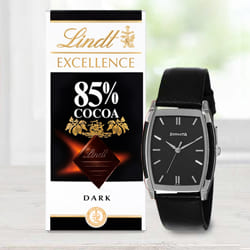 Marvelous Sonata Analog Mens Watch N Lindt Chocolate to Ahmedgarh