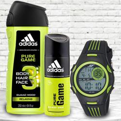 Wonderful Sonata Fibre Mens Watch, Adidas Shower Gel N Deo to Aizwal