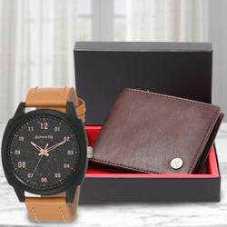 Marvelous Sonata Volt+ Analog Watch N Leather Wallet to Abohar