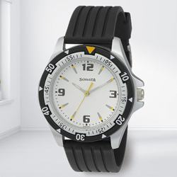 Amazing Sonata Super Fibre Analog Mens Watch to Aizwal