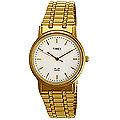 Gift your father with this elegant Timex gents watch with white dial, golden casing and golden metallic belt. He will remember this day everytime he wears it. This watch comes with a manufacturers warranty of 9 months to Peruvayal
