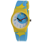 Titan Zoop Presents Trendy Blue and Yellow Wrist Watch for Kids to Badgam