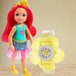 Marvelous Zoop Analog Watch N Barbie Chelsea Doll to Agra