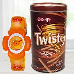 Marvelous Zoop Analog Watch N Delfi Twister Chocolate Wafer to Alwar
