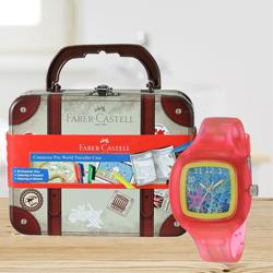 Marvelous Zoop Analogue Watch N Faber-Castell Colours Set to Ahmedabad