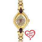Designer Gold Metallic Wrist Watch for Ladies from Titan Sonata to Agra