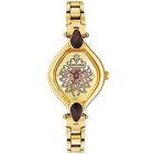 Designer Gold Metallic Wrist Watch for Ladies from Titan Sonata to India