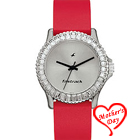 Exotic Designer Ladies Fastrack Wrist Watch with Red Strap to Agra