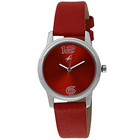Appealing Red Coloured Watch for Ladies with Leather Straps Presented by Titan Fastrack to Bhubaneswar