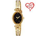 Black dial golden ladies watch from Titan to Agra