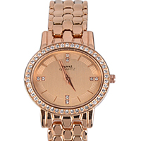 Exciting Present of Stone Studded Rose Gold Watch for Ladies to Ahmedabad