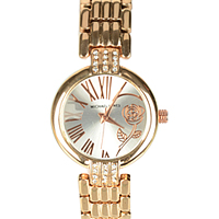 Gorgeous Stone Studded Ladies Wrist Watch in Golden Color to Guwahati