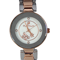 A Stylish Silver & Rose Gold Color Watch adorned with Stones to Allahabad