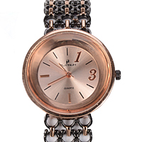 An Adorable Black & Rose Gold Plated Womens Watch to Anantapur