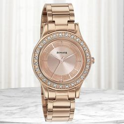 Remarkable Sonata Blush It Up Analog Womens Watch to Abohar
