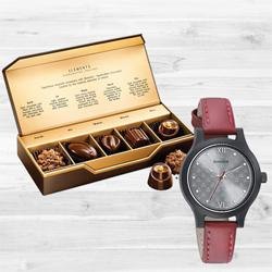 Marvelous Sonata Analog Womens Watch N Fabelle Elements Chocos to India