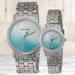 Marvelous Sonata Analog Couple Watch to Abohar