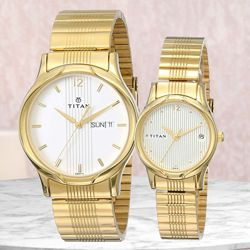 Marvelous Titan Bandhan Analog Couple Watch to Akola