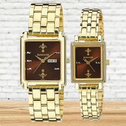 Wonderful Sonata Analog Couple Watch to Abohar