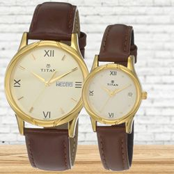 Marvelous Titan Analog Pair Watch to Aligarh