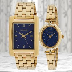 Remarkable Sonata Analog Couple Watch to Adilabad