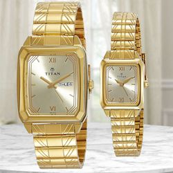 Remarkable Titan Bandhan Analog Pair Watch to Abohar