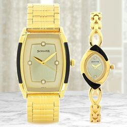 Remarkable Sonata Analog Unisex Watch to Allahabad