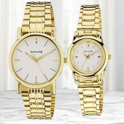 Marvelous Sonata Analog Men N Women Watch to Alwar