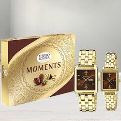 Marvelous Sonata Analog Watch N Ferrero Rocher Moments Chocos to Aligarh