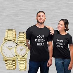 Marvelous Sonata Analog Watch N Personalized T Shirts to Abohar