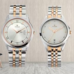 Fabulous Titan Analog Watch for Couple to Adugodi