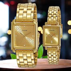 Wonderful Sonata Fiber Collection Analog Watch for Couple to Adugodi