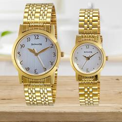 Mesmerizing Sonata Analog White Dial Couples Watch to Adilabad