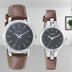 Stunning Sonata Analog Black Dial Couple Watch to Abohar
