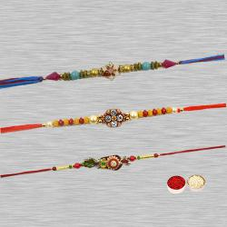Attractive Fancy Zardozi Rakhi to Ariyalur