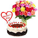 Black Forest Cake From Taj / 5 Star Bakes with Colourful Roses to Hyderabad