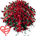 1000 Exclusive Dutch Red Roses Arrangement to Barrackpore