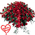 500 Exclusive Dutch Red Roses Arrangement to Barrackpore